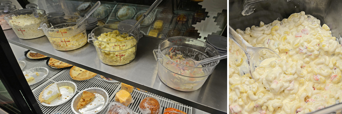 The deli side offers a number of custom made-to-order sandwiches, including fresh sides and pies.